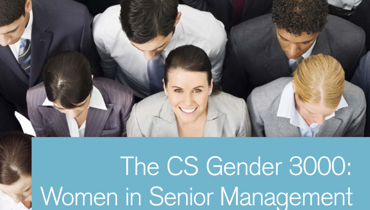 Tyche Leadership Consulting_Credit Suisse report: Women in Senior Management improves financial performance.
