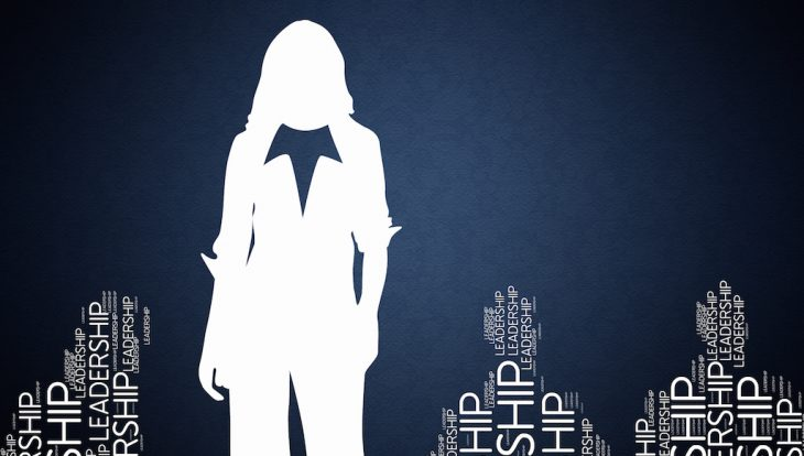 Leadership - Concept Wallpaper with woman silhouette